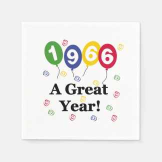 1966 A Great Year Birthday Paper Napkins