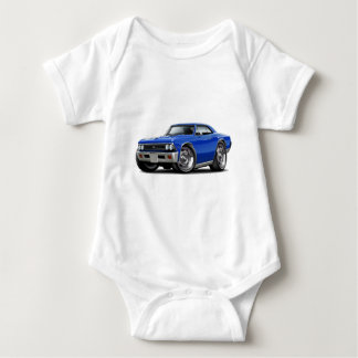 1966 Chevelle Blue Car Baby Bodysuit