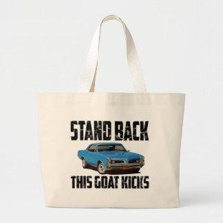 1966 Pontiac GTO Stand Back Large Tote Bag