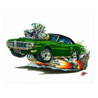 1967-68 Firebird Green-Black Top Postcard