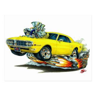 1967-68 Firebird Yellow Car Postcard