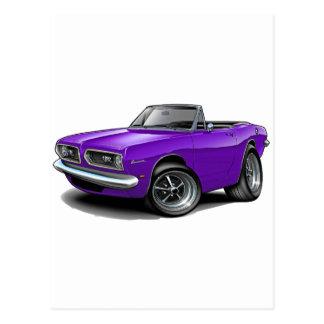1967-69 Barracuda Purple Convertible Postcard