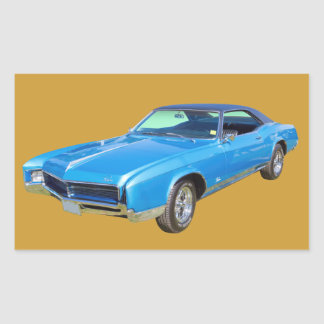 1967 Buick Riviera Muscle Car Rectangular Sticker