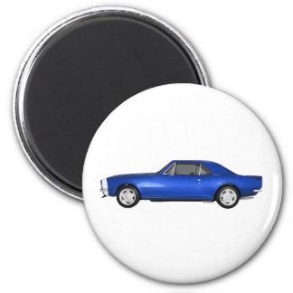 1967 Camaro SS: Blue Finish: 3D Model: Magnet