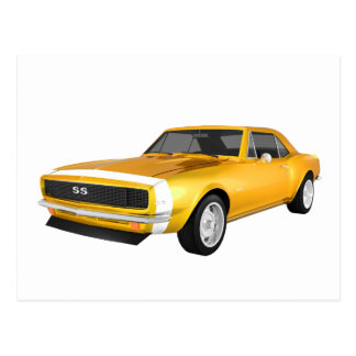 1967 Camaro SS: Yellow Finish: 3D Model: Postcard