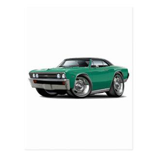 1967 Chevelle Teal Black Top Postcard