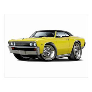 1967 Chevelle Yellow Black Top Postcard