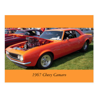 1967 Chevy Camaro Postcard