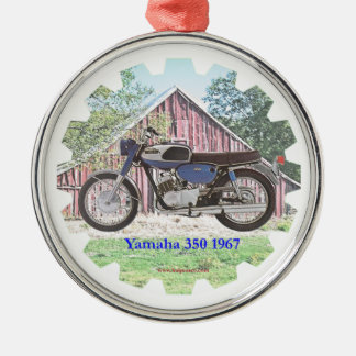 1967 Classic Motorcycle Yamaha Christmas Ornament
