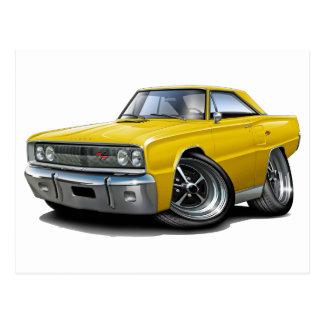 1967 Coronet RT Yellow Car Postcard