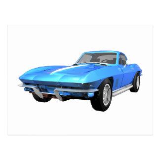 1967 Corvette Sports Car: Blue Finish: Postcard