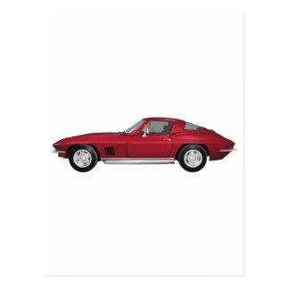 1967 Corvette: Sports Car: Candy Apple Finish: Postcard