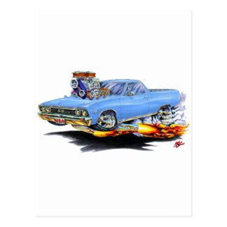 1967 El Camino Lt Blue Truck Postcard
