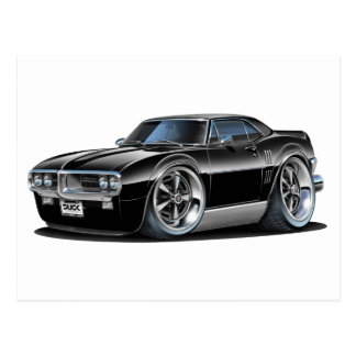 1967 Firebird Black Car Postcard