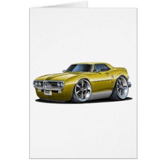 1967 Firebird Gold Car Card