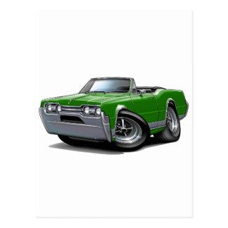 1967 Olds Cutlass Green Convertible Postcard