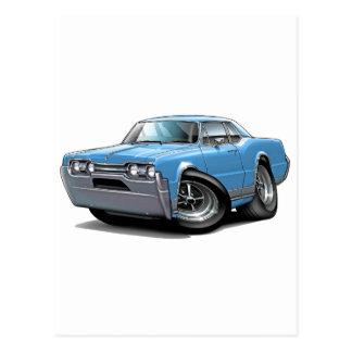 1967 Olds Cutlass Lt Blue Car Postcard