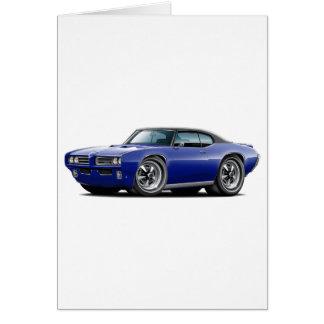 1968-69 GTO Dk Blue-Black Top Car Card