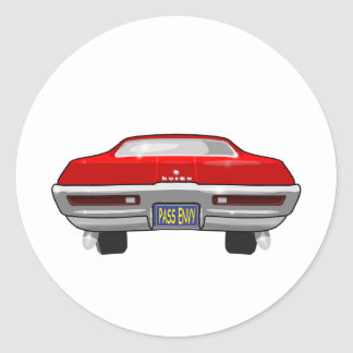 1968 Buick California GS Classic Round Sticker