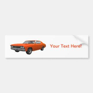 1968 Chevelle SS: Orange Finish Bumper Sticker