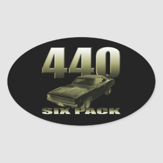 1968 dodge charger 440 six pack oval sticker