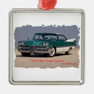 1968 Dodge Charger Daytona Silver-Colored Square Decoration