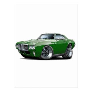 1969 Firebird Dark Green Car Postcard