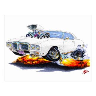 1969 Firebird White Car Postcard