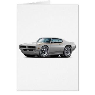1969 GTO Judge Silver Hidden Headlight Car Card