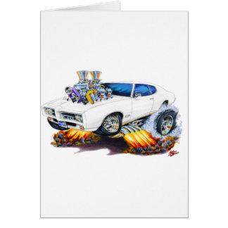 1969 GTO White Car Card