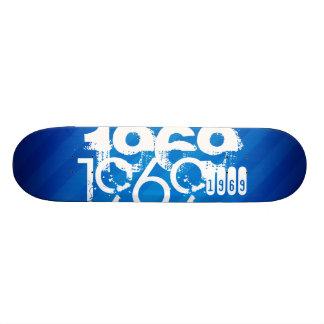 1969 on Royal Blue Stripes Skate Deck