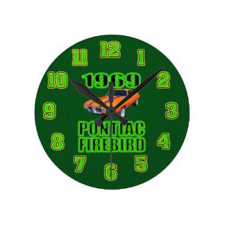 1969 Pontiac Fire Bird Clock. Round Clock