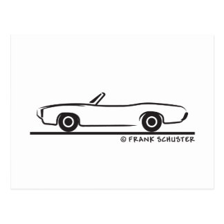 1969 Pontiac GTO Convertible Postcard