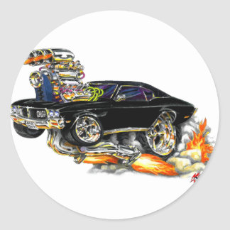1970-72 Buick GS Black Car Classic Round Sticker