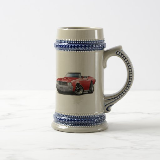 1970-72 Buick GS Red Convertible Mugs