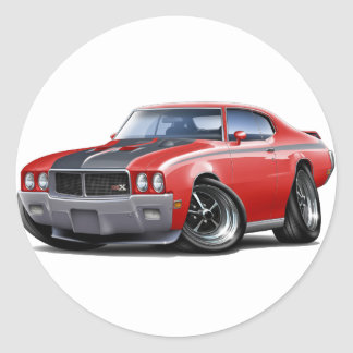 1970 Buick GSX Red Car Classic Round Sticker
