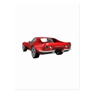 1970 Corvette Sports Car: Red Finish Postcard