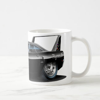 1970 Superbird Black Car Coffee Mug
