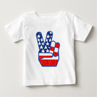 1970s USA Flag Peace Hand Tee Shirt