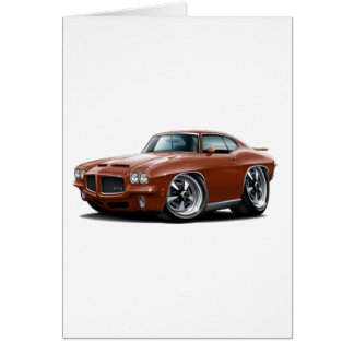 1971-72 GTO Bronze Car Card