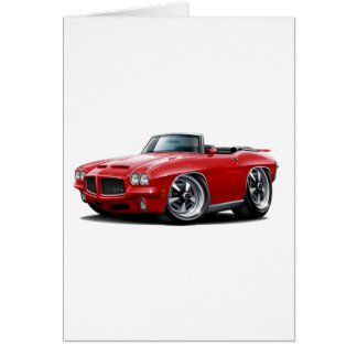 1971-72 GTO Red Convertible Card