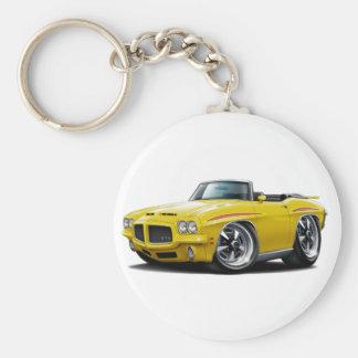 1971 GTO Judge Yellow Convertible Key Ring