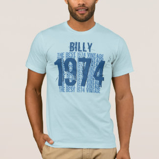 1974 40th Birthday or any Year Vintage BLUE V01F T-Shirt