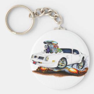 1974-76 Firebird White Car Key Ring