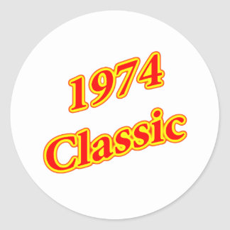 1974 Classic Red Round Stickers