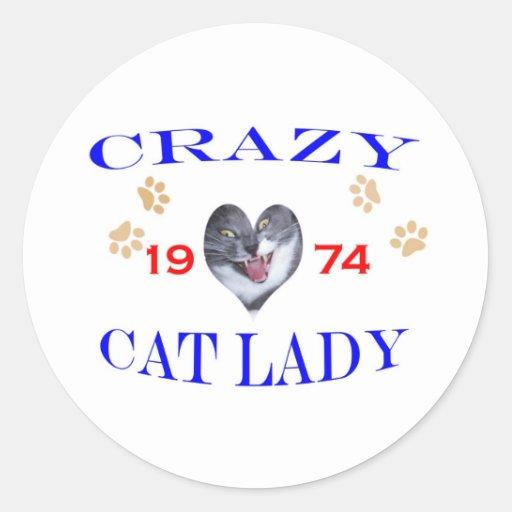 1974 Crazy Cat Lady Sticker