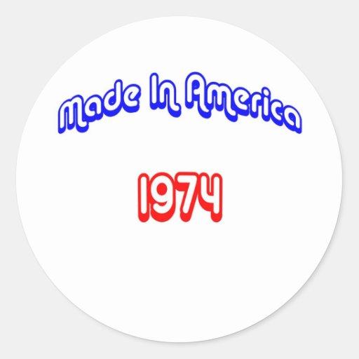 1974 Made In America Sticker