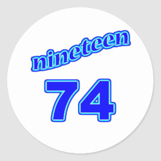 1974 Nineteen 74 Stickers