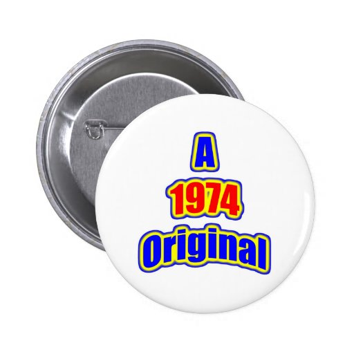 1974 Original Bl Red Pin