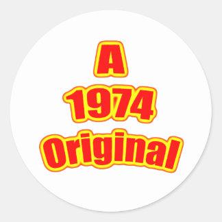 1974 Original Red Round Sticker